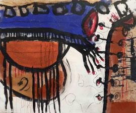 """""""Erinnerungen #2"""", 2015, Mischtechnik und Collage auf Papier auf Leinwand, 120x100 cm"""