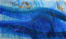 im wasser2,mm on paper on canvas, 2012, 100x60