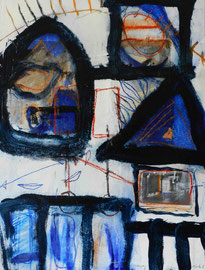 """""""Erinnerungen #8"""", 2016, Mischtechnik und Collage auf Papier auf Leinwand, 60x80 cm"""