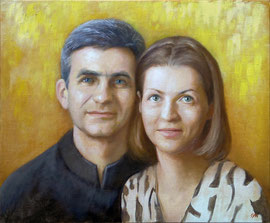 Портрет Владимира и Елены Михеевых. 2015