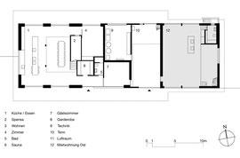 Stallumbau Gizehus Amriswil: Erdgeschoss