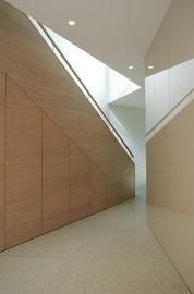 Waldtraut St. Margrethen: Treppe ins Wohngeschoss (Foto: Francesca Giovanelli)