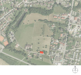 Stallumbau Gizehus Amriswil: Situation (Quelle: Amt für Geoinformation Thurgau)