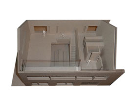 Stallumbau Gizehus Amriswil: Modellaufsicht Obergeschoss