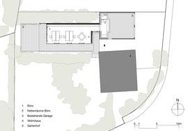 Holzbau Bikinibüro Widnau: Grundriss