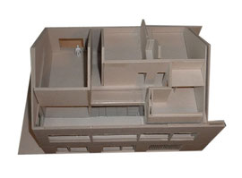 Stallumbau Gizehus Amriswil: Modellaufsicht Dachgeschoss