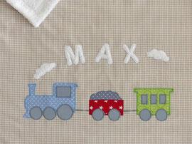 Babydecke Eisenbahn Zug Name