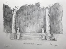 Nordkirchen, 1. Juli 2017 um 22.20 Uhr  - Zeichnung 30x21cm