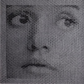 Laura, 2016, 92X92cm, dieci fogli di rete metallica intagliati a mano
