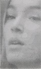 Carmen, 2019, 100x60cm, dieci fogli di rete metallica intagliati a mano