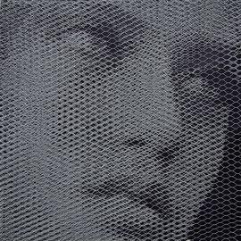 Petra, 2016, 80x80cm, dieci fogli di rete metallica intagliati a mano
