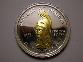 Face de la pièce de 35 Minerva Dollars