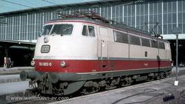 BR 103 Vorserie in München Hbf. (1974)