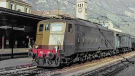 FS E 636 mit Personenzug in Bozen (1982)
