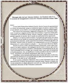 Messaggio e riflessione dello Chef Salvatore Schifano - Ottobre 1988  - ( 1° Parte )