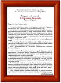 Documentazione elaborata da Padre L. Affoni con annessa una lettera del Cardinale Ugo Poletti  (1°parte)