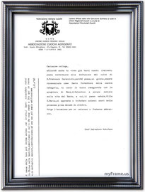 lettera diffusa dal compianto Chef S.Schifano.