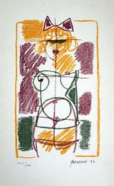 Z-1  Franco Batacchi - Weiblicher Akt Farblithografie, 1992, handsigniert, nummeriert (26/30) und datiert; Auflage: 30; in gutem Zustand; Blattgröße: 37,5 x 23,5 cm, Motivgröße: 28,0 x 16,5 cm; Preis: 45,- EUR