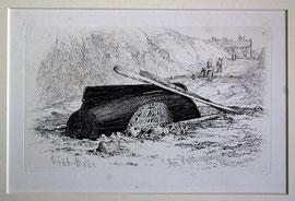 """B-26 """"Crab-Boat At Rottingdean"""" - Kupferstich mit Radierung von Edward William Cooke, in der Platte bezeichnet E.W.C. Jan. 1830; Plattenrand: 10,1 x 16,9 cm, Blattgröße: 23,5 x 31,5 cm; Preis: 28,-- EUR"""