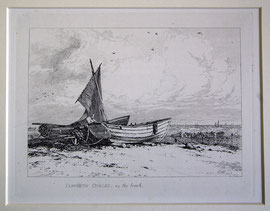 "B-23 ""Thames Barge off Northfleet."" - Kupferstich mit Radierung von Edward William Cooke, in der Platte bezeichnet ""London. Published. Feb. 1829. - Drawn & Etched by E. W. Cooke""; Plattenrand: 10,7 x 16,3 cm, Blattgröße: 23,5 x 31,5cm  Preis:"