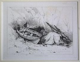 """B-27 """"On The Beach At Cromer"""" - Kupferstich mit Radierung von Edward William Cooke, in der Platte bezeichnet """"Drawn & Etched by E. W. Cooke""""; Plattenrand: 15 x 20 cm, Blattgröße: 23,5 x 31,5 cm; Preis: 28,-- EUR"""