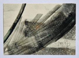 Z-12 Schwarze und farbige Tuschen auf Papier von Magda Hagstotz, signiert; Maße des Blattes: 10,4x14,5 cm, Preis: 48 EUR
