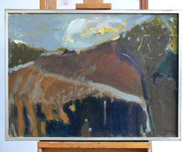 Z-9 Landschaftsmalerei – Öl auf Acryl auf Leinwand des Malers Lothar A. Janssen; in einem selbst gefertigten Silberrahmen; Außenmaße: 54 x 73,5 cm; Preis: 890,-- EUR