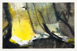 Z-15 Mischtechnik auf Papier von Magda Hagstotz (1914-Stuttgart-2001), zweifach signiert; Bildgröße: 17x27 cm, Preis: 98,-- EUR