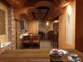 Первый зал кафе Сарбон