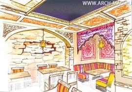 Второй зал кафе Сарбон