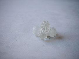 hanabi           :glass,14kgf//////pierced earrings