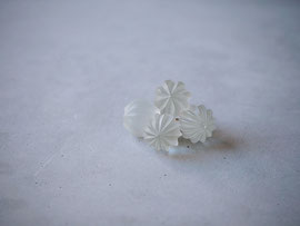 hanabi           :glass,14kgf//////pierced earrings