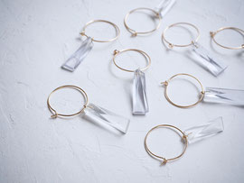 kakera               :glass,14kgf//////pierced earrings