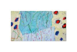 2004,  Collage (Acryl und Ölkreide auf Papier auf Leinwand), 65 x 120 cm