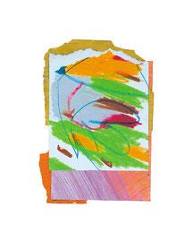 2003,  Collage (Acryl und Ölkreide auf Papier), 17 x 11 cm