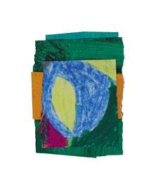 2003,  Collage (Acryl und Ölkreide auf Papier), 15 x 11 cm