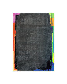 2003,  Collage (Pigmente und Binder auf Papier auf Holz), 59 x 42 cm