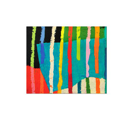 2004,  Collage (Pigmente und Binder auf Papier auf Holz), 100 x 120 cm