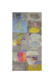 2014, Pigmente und Binder auf Leinwand, 150 x 75 cm