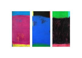 2003, Pigmente und Binder auf Leinwand, je 180 x 90 cm