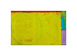 2004, Pigmente und Binder auf Leinwand, 100 x 160 cm