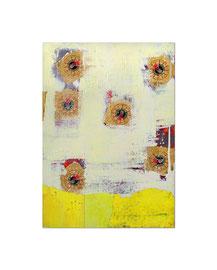 2004, Collage (Goldpapier und Acryl auf Papier auf Holz), 59 x 42 cm