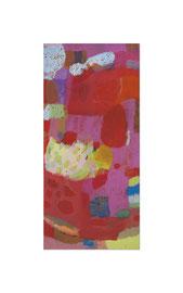2014, Pigmente und Binder auf Leinwand, 150 x 70 cm