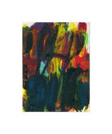 2009, Ölkreide auf Papier, 20 x 15 cm