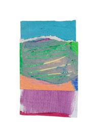 2003,  Collage (Acryl und Ölkreide auf Papier), 17 x 10 cm