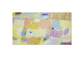 2013, Pigmente und Binder auf Leinwand, 100 x 180 cm