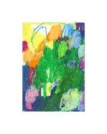 2010, Ölkreide auf Papier, 20 x 14 cm