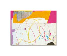 2004,  Collage (Acryl und Ölkreide auf Papier auf Holz), 85 x 64 cm