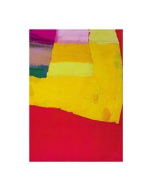 2004,  Collage (Acryl / Ölkreide / Papier / Baumwolle auf Holz), 59 x 42 cm