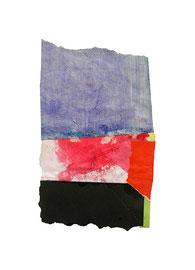 2003,  Collage (Acryl und Ölkreide auf Papier), 18 x 11 cm